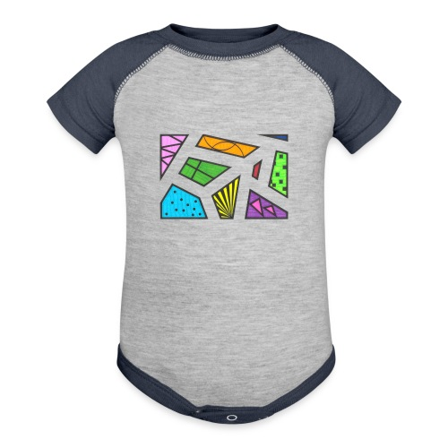 geometric artwork 1 - Baseball Baby Bodysuit