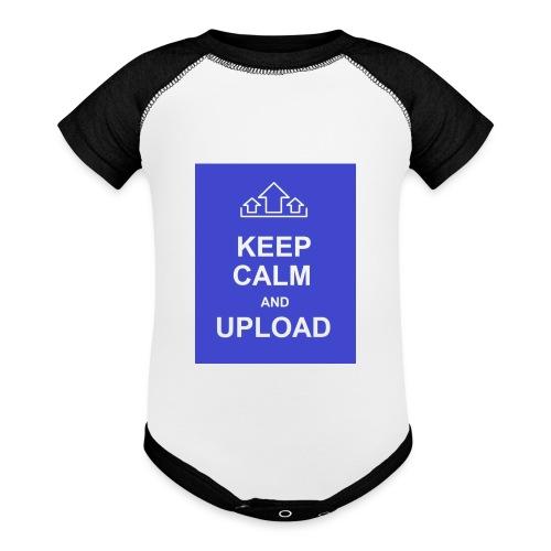 RockoWear Keep Calm - Contrast Baby Bodysuit