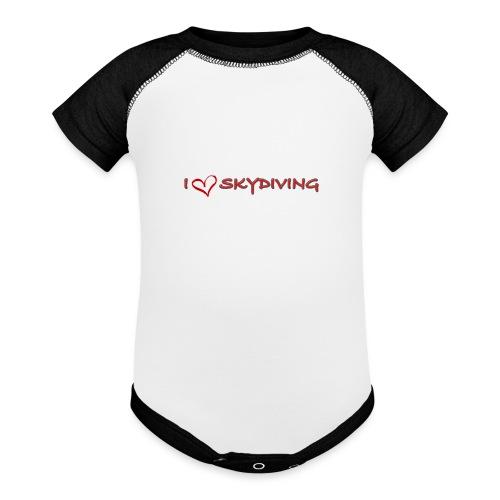I love skydiving T-shirt/BookSkydive - Baseball Baby Bodysuit