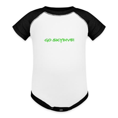 Go Skydive T-shirt/Book Skydive - Baseball Baby Bodysuit