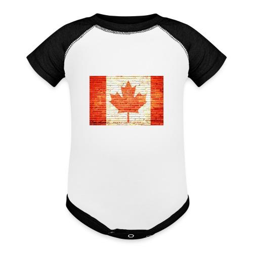 Canada flag - Baseball Baby Bodysuit
