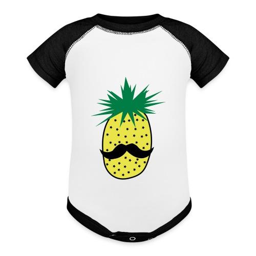 LUPI Pineapple - Baseball Baby Bodysuit