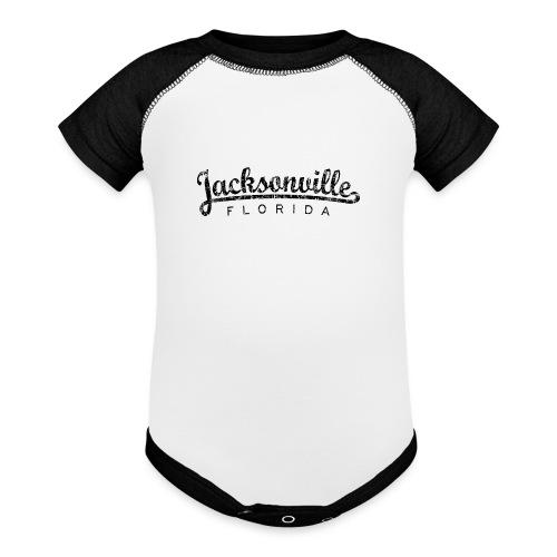 Jacksonville, Florida Classic (Ancient Black) - Baseball Baby Bodysuit