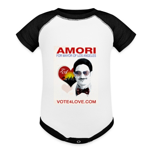 Amori for Mayor of Los Angeles eco friendly shirt - Baby Contrast One Piece
