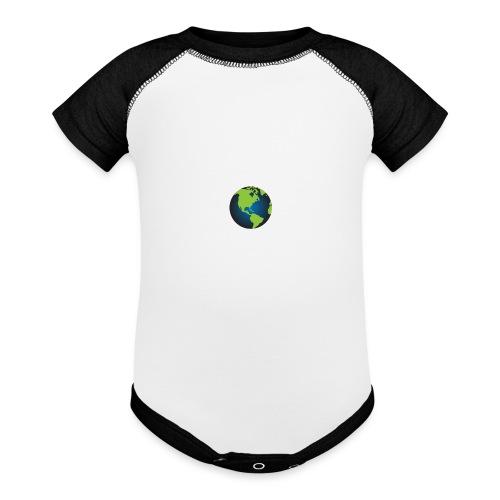 Self Sufficient Me Logo Large - Baseball Baby Bodysuit