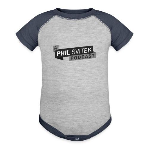A Phil Svitek Podcast Logo ONLY Design - Baseball Baby Bodysuit