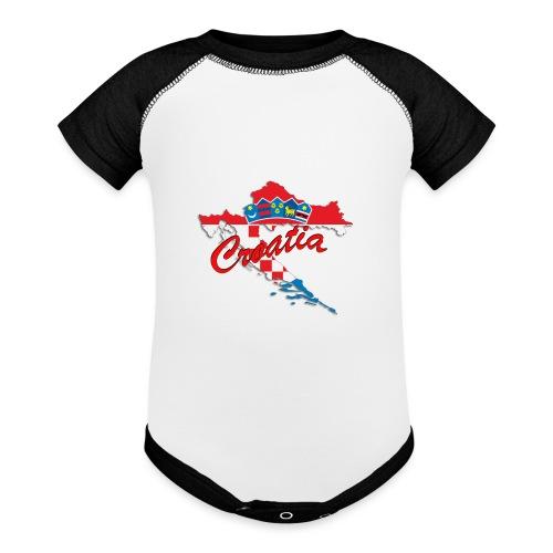 Croatia Football Team Colours T-Shirt Treasure Des - Baseball Baby Bodysuit