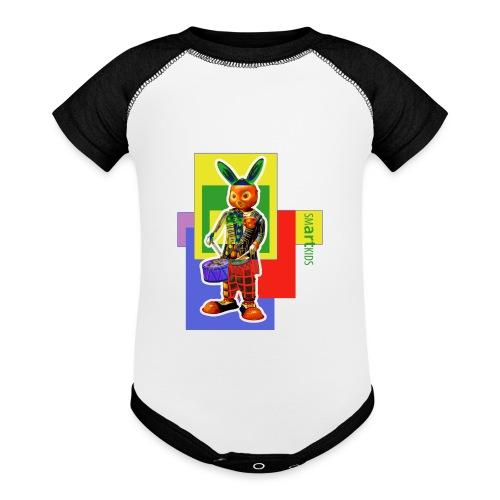 smARTkids - Slammin' Rabbit - Baseball Baby Bodysuit