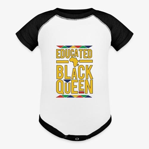 Dashiki Educated BLACK Queen - Baseball Baby Bodysuit