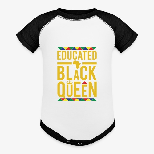 Educated Black Queen - Baseball Baby Bodysuit