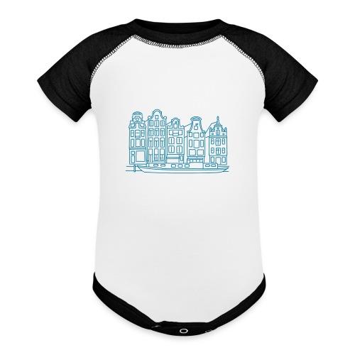 Amsterdam Canal houses - Baseball Baby Bodysuit