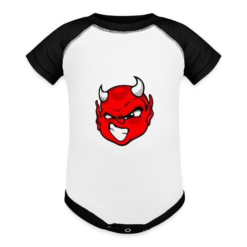 Rebelleart devil - Baseball Baby Bodysuit