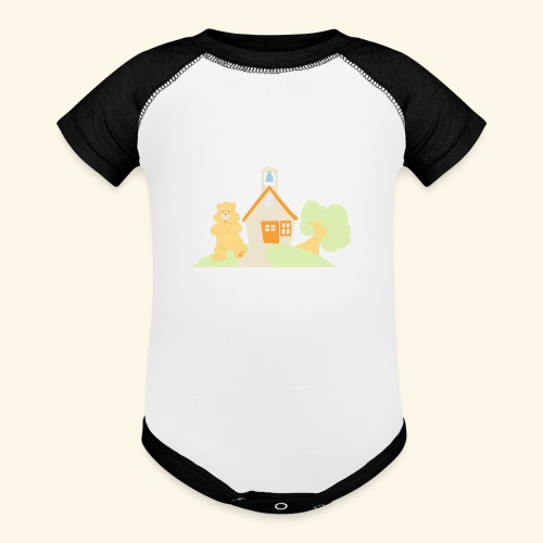 bear house - Baby Contrast One Piece