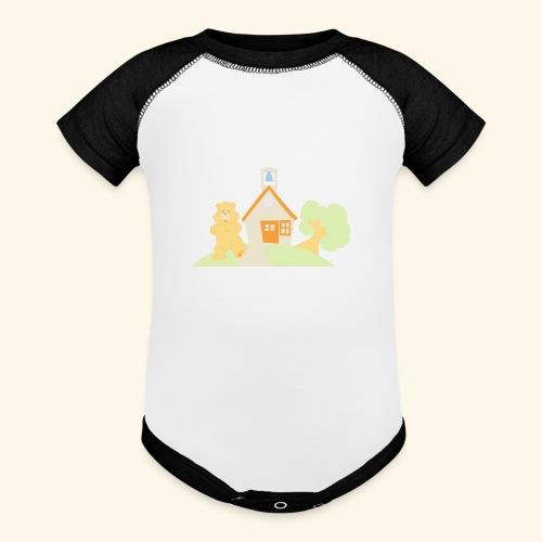 bear house - Contrast Baby Bodysuit