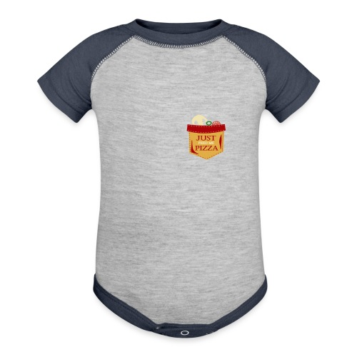 Just feed me pizza - Baseball Baby Bodysuit