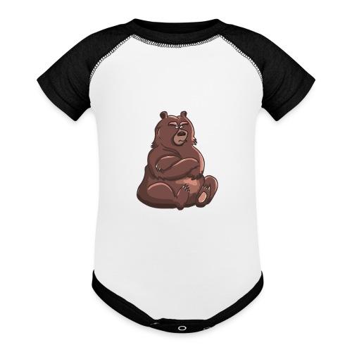Bear in Contempt T-Shirt - Contrast Baby Bodysuit