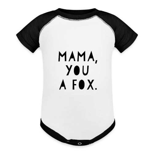 Mama, You a Fox - Contrast Baby Bodysuit