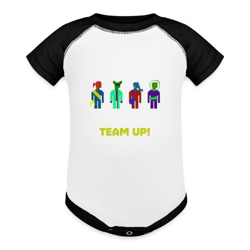 Spaceteam Team Up! - Baseball Baby Bodysuit