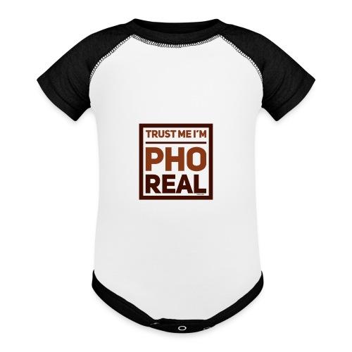 trust me i'm Pho Real - Baseball Baby Bodysuit