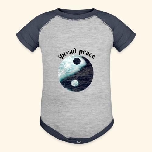 spread peace - Baseball Baby Bodysuit