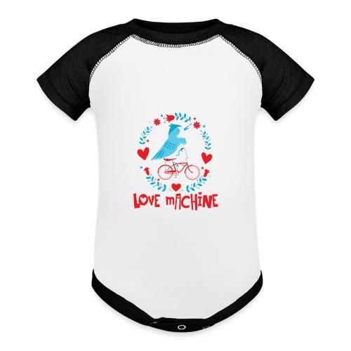 Cute Love Machine Bird - Baseball Baby Bodysuit