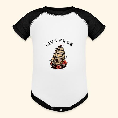 LIVE FREE - Baseball Baby Bodysuit
