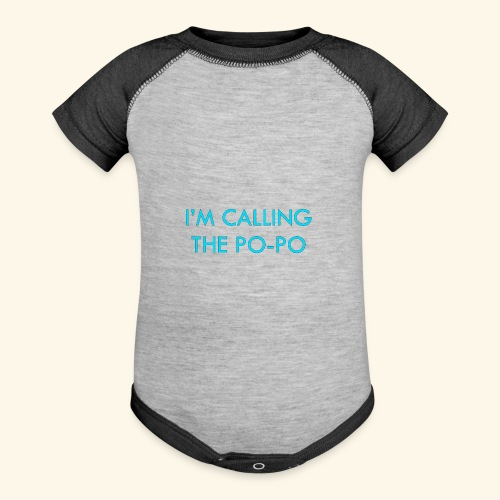 I'M CALLING THE PO-PO | ABBEY HOBBO INSPIRED - Baseball Baby Bodysuit