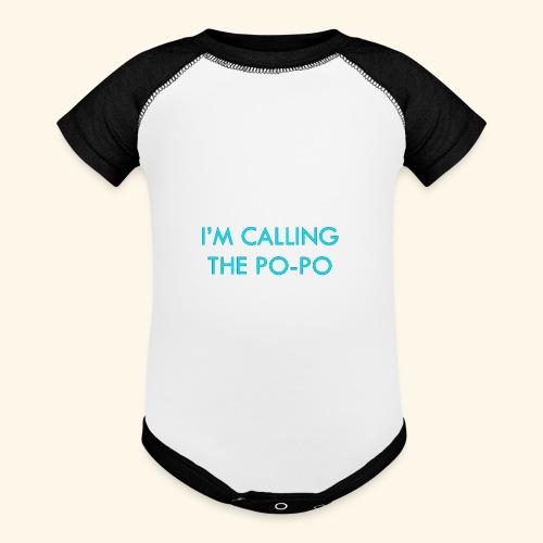 I'M CALLING THE PO-PO | ABBEY HOBBO INSPIRED - Baseball Baby Bodysuit