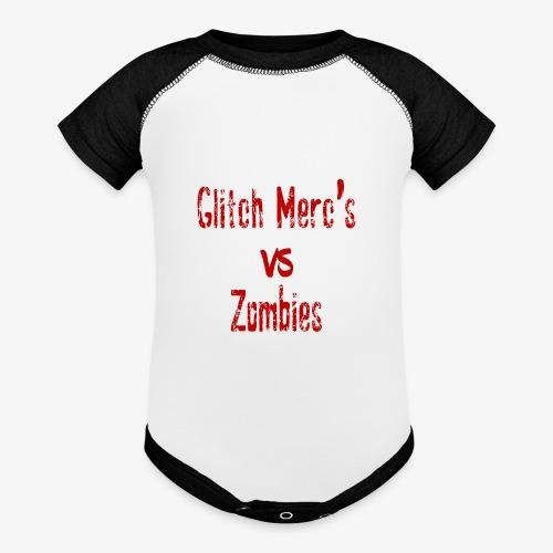 glitch zombie red - Baseball Baby Bodysuit