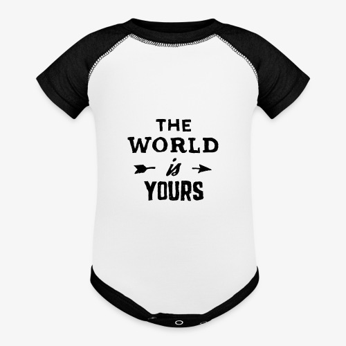 the world - Baseball Baby Bodysuit