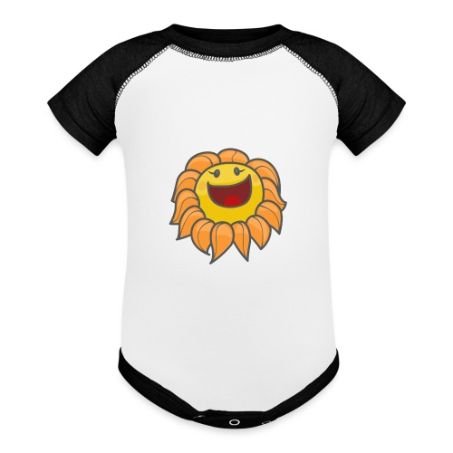 Happy sunflower - Baseball Baby Bodysuit