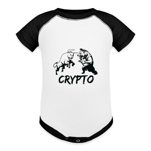 CryptoBattle Black - Baseball Baby Bodysuit