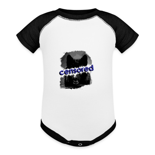 Wolf censored - Baseball Baby Bodysuit