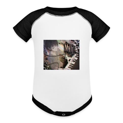 Dark Piano 1 - Baseball Baby Bodysuit