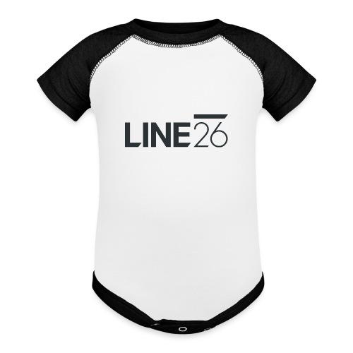 Line26 Logo (Dark Version) - Baseball Baby Bodysuit