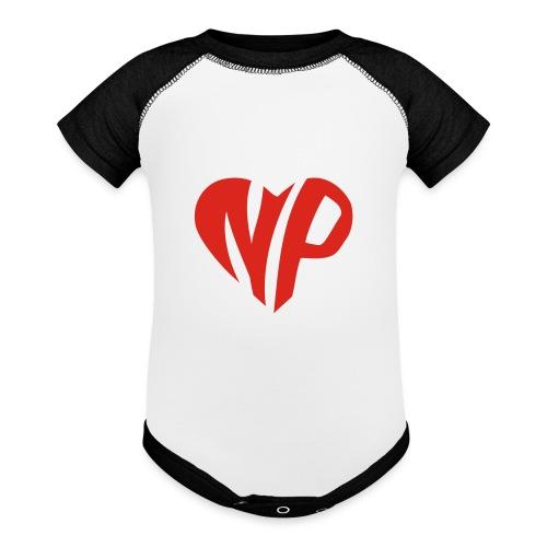 np heart - Baseball Baby Bodysuit
