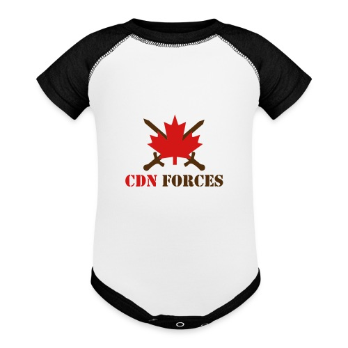 Canadian Forces Cross - Baseball Baby Bodysuit