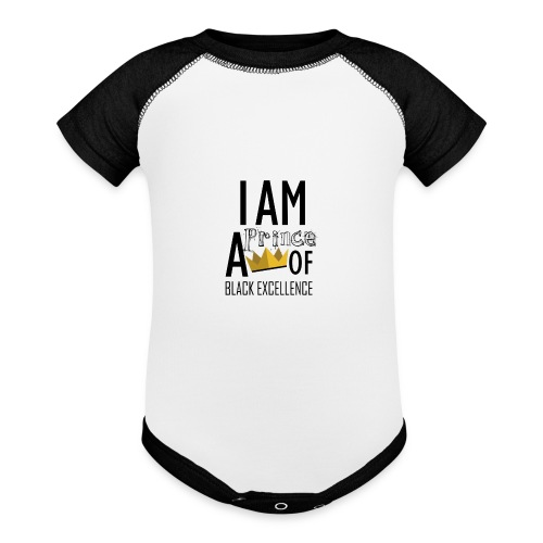 I AM A PRINCE OF BLACK EXCELLENCE - Contrast Baby Bodysuit