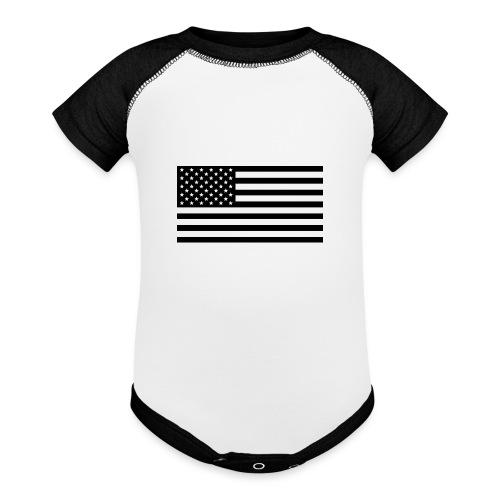 American Flag - Contrast Baby Bodysuit
