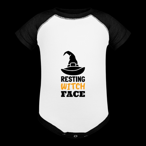 Resting Witch Face | Funny Halloween - Baseball Baby Bodysuit
