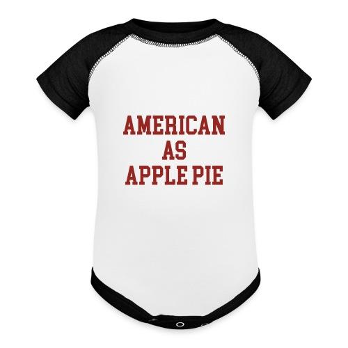 American as Apple Pie - Baseball Baby Bodysuit