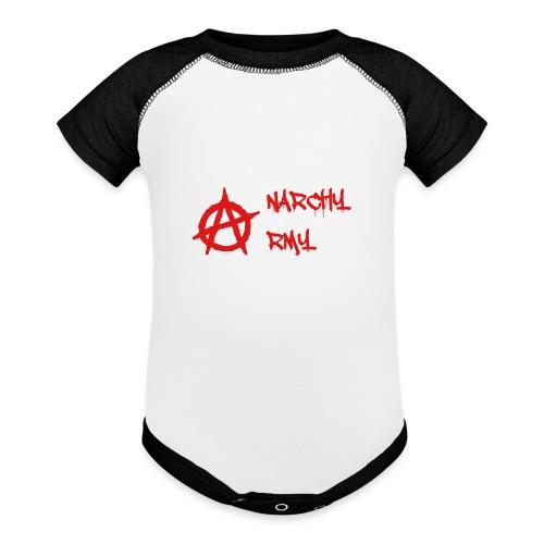 Anarchy Army LOGO - Baseball Baby Bodysuit