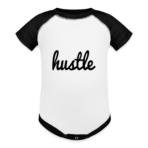 hustle vector - Baseball Baby Bodysuit