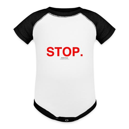 stop - Baseball Baby Bodysuit