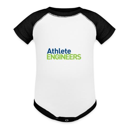 Athlete Engineers - Stacked Text - Baseball Baby Bodysuit