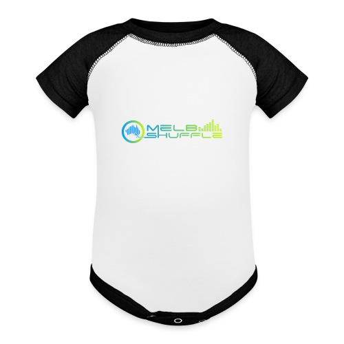 Melbshuffle Gradient Logo - Baseball Baby Bodysuit