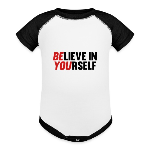Believe in Yourself - Baseball Baby Bodysuit