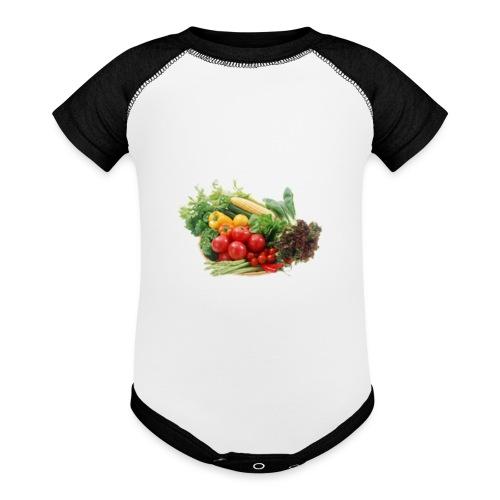 vegetable fruits - Baseball Baby Bodysuit