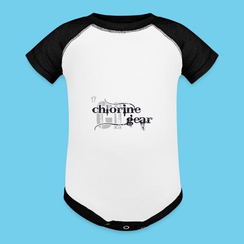 Chlorine Gear Textual B W - Baseball Baby Bodysuit