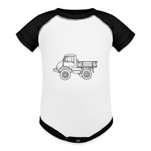 Off-road truck, transporter - Baseball Baby Bodysuit